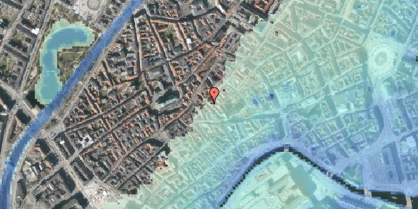 Stomflod og havvand på Klosterstræde 18, kl. , 1157 København K