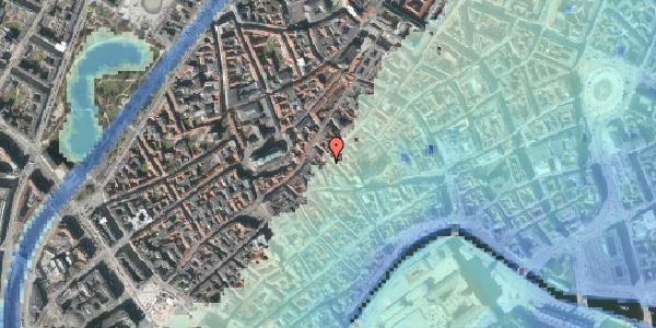 Stomflod og havvand på Klosterstræde 19, st. , 1157 København K