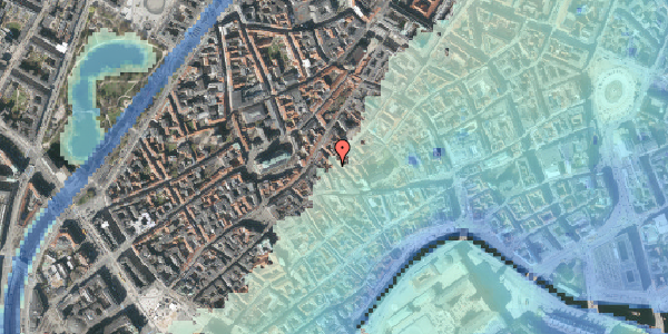 Stomflod og havvand på Klosterstræde 19, 2. , 1157 København K