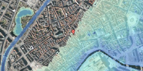 Stomflod og havvand på Klosterstræde 21, kl. , 1157 København K
