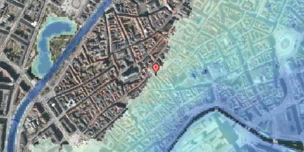 Stomflod og havvand på Klosterstræde 23A, kl. , 1157 København K
