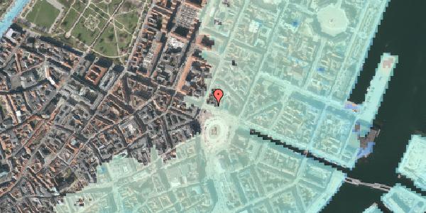 Stomflod og havvand på Kongens Nytorv 18, 1. , 1050 København K