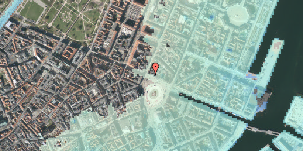 Stomflod og havvand på Kongens Nytorv 20, 1. , 1050 København K