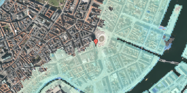 Stomflod og havvand på Kongens Nytorv 21, st. 1, 1050 København K
