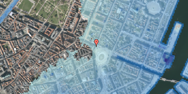 Stomflod og havvand på Kongens Nytorv 26, st. 2, 1050 København K