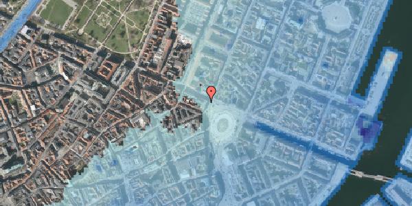 Stomflod og havvand på Kongens Nytorv 26, 1. , 1050 København K