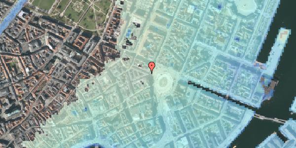 Stomflod og havvand på Kongens Nytorv 30, kl. 6, 1050 København K