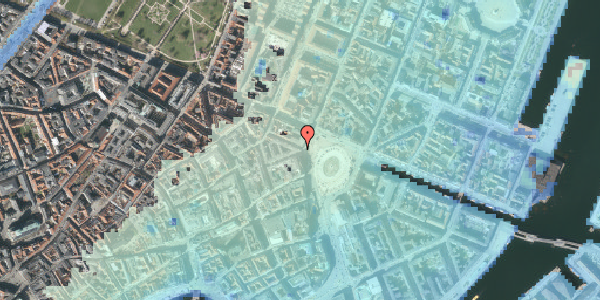 Stomflod og havvand på Kongens Nytorv 30, st. , 1050 København K