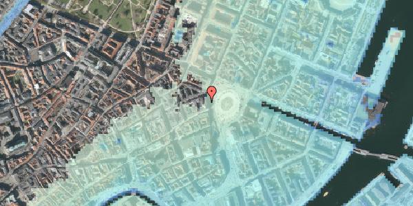 Stomflod og havvand på Kongens Nytorv 34, 1050 København K