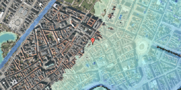 Stomflod og havvand på Kronprinsensgade 5A, kl. , 1114 København K