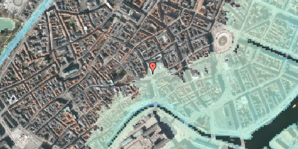Stomflod og havvand på Købmagergade 1, 4. , 1150 København K