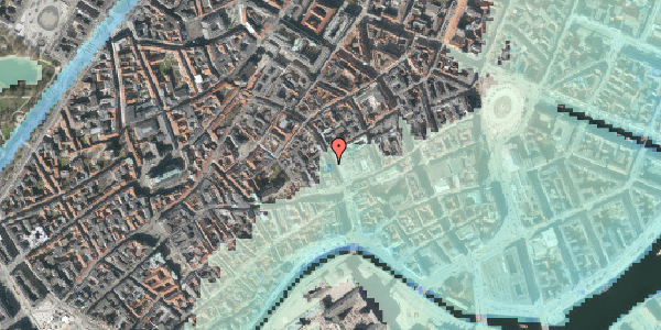 Stomflod og havvand på Købmagergade 7, 5. , 1150 København K