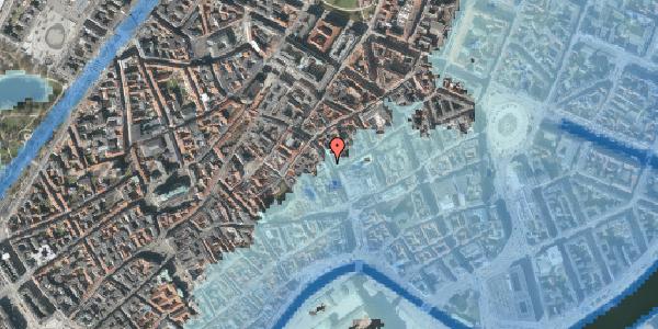Stomflod og havvand på Købmagergade 13, st. th, 1150 København K
