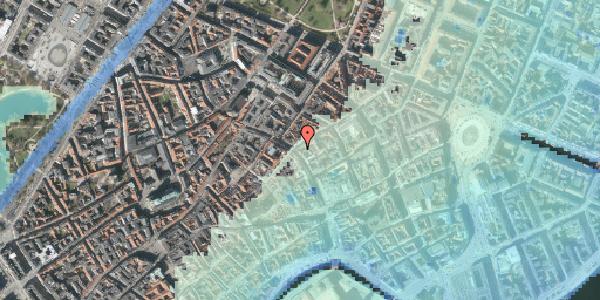 Stomflod og havvand på Købmagergade 34, st. th, 1150 København K
