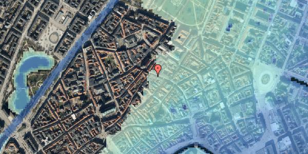 Stomflod og havvand på Købmagergade 45, kl. tv, 1150 København K