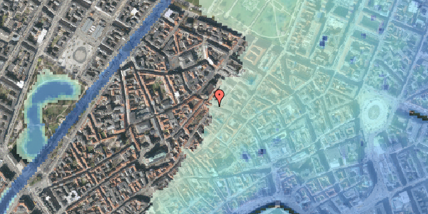 Stomflod og havvand på Købmagergade 47, 4. th, 1150 København K