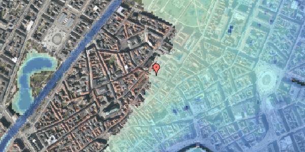 Stomflod og havvand på Købmagergade 47, 4. tv, 1150 København K