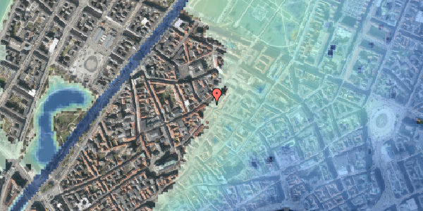 Stomflod og havvand på Købmagergade 52A, 4. , 1150 København K