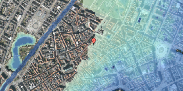 Stomflod og havvand på Købmagergade 52, 2. tv, 1150 København K