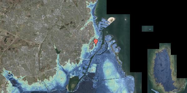 Stomflod og havvand på Købmagergade 55, 4. , 1150 København K