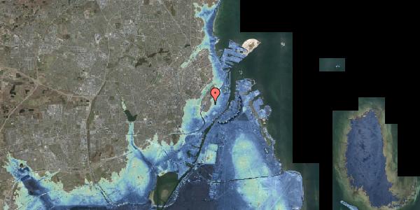 Stomflod og havvand på Købmagergade 57A, st. 1, 1150 København K
