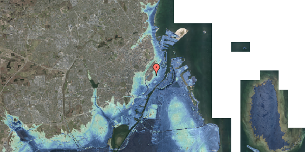Stomflod og havvand på Købmagergade 57, 3. tv, 1150 København K
