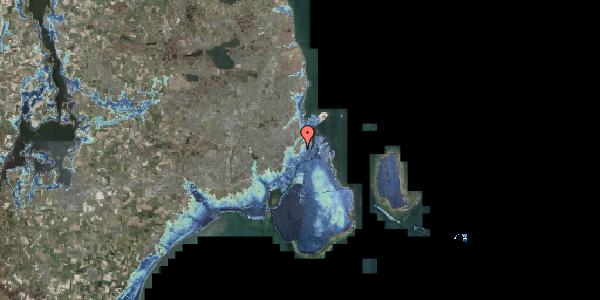Stomflod og havvand på Købmagergade 65E, 1150 København K