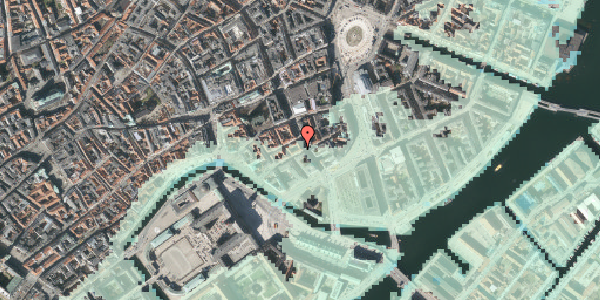 Stomflod og havvand på Laksegade 20A, 1. mf, 1063 København K