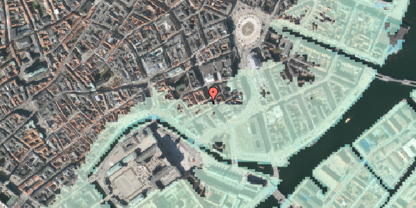 Stomflod og havvand på Laksegade 20B, 1. mf, 1063 København K