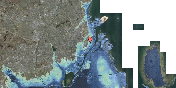 Stomflod og havvand på Landemærket 9, kl. 3, 1119 København K