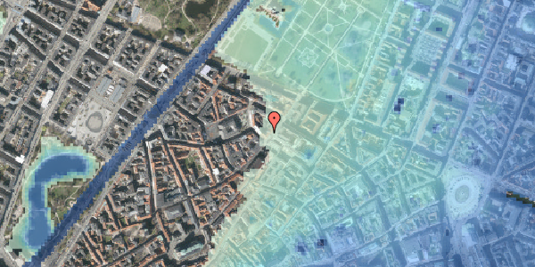 Stomflod og havvand på Landemærket 23, st. , 1119 København K