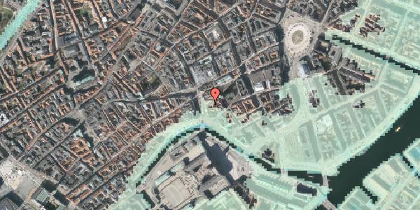 Stomflod og havvand på Lille Kirkestræde 5, kl. , 1072 København K