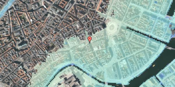 Stomflod og havvand på Lille Kongensgade 34, kl. , 1074 København K