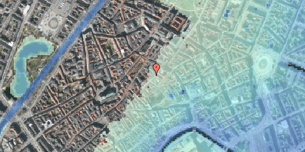 Stomflod og havvand på Løvstræde 10, kl. 7, 1152 København K