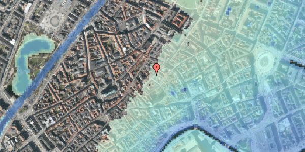 Stomflod og havvand på Løvstræde 14, 2. tv, 1152 København K