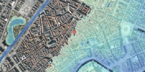 Stomflod og havvand på Løvstræde 14, 3. tv, 1152 København K