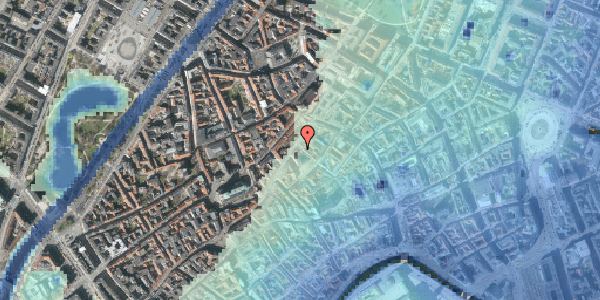 Stomflod og havvand på Niels Hemmingsens Gade 23, 3. , 1153 København K