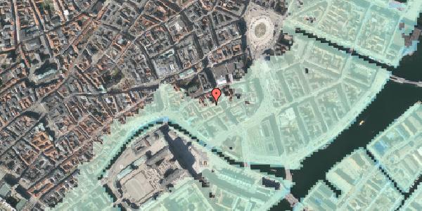 Stomflod og havvand på Nikolajgade 19, st. 1, 1068 København K