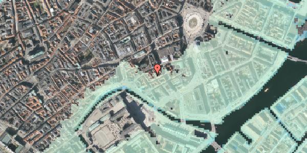 Stomflod og havvand på Nikolajgade 20, kl. tv, 1068 København K