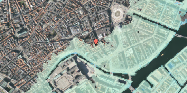 Stomflod og havvand på Nikolajgade 20, st. 1, 1068 København K