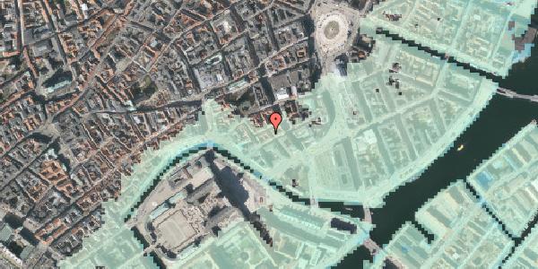 Stomflod og havvand på Nikolajgade 22, kl. 1, 1068 København K