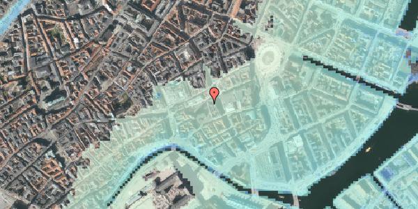 Stomflod og havvand på Nikolaj Plads 5, 3. 4, 1067 København K