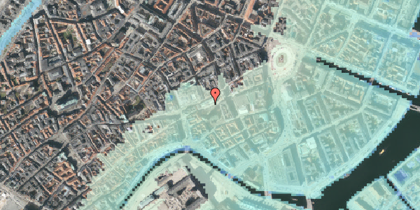 Stomflod og havvand på Nikolaj Plads 6, 2. , 1067 København K