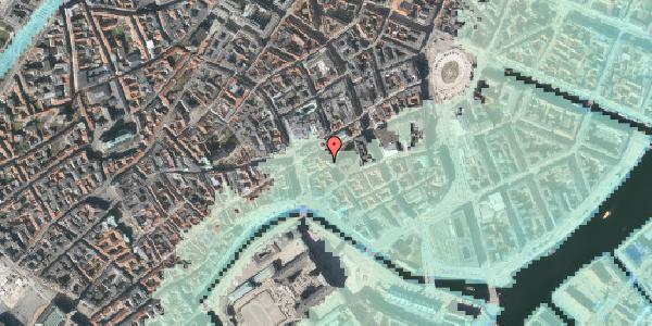 Stomflod og havvand på Nikolaj Plads 26, kl. , 1067 København K