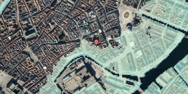 Stomflod og havvand på Nikolaj Plads 34, kl. 13, 1067 København K