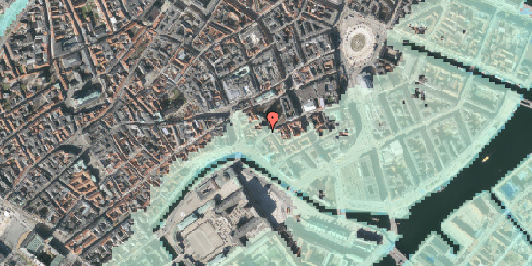 Stomflod og havvand på Nikolaj Plads 34, st. , 1067 København K