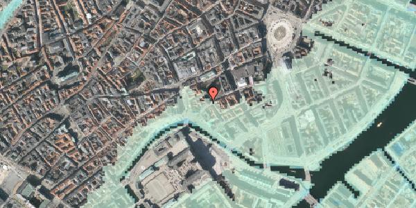 Stomflod og havvand på Nikolaj Plads 34, 4. tv, 1067 København K