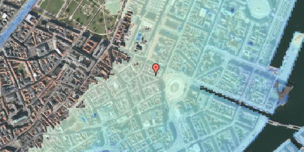 Stomflod og havvand på Ny Adelgade 3, 3. tv, 1104 København K