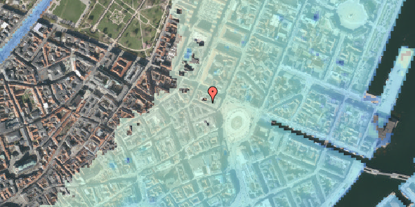 Stomflod og havvand på Ny Adelgade 4, 4. , 1104 København K