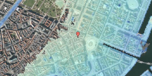 Stomflod og havvand på Ny Adelgade 5A, 3. th, 1104 København K
